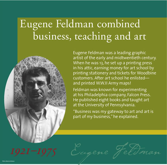 Exhibits - Sam Azeez Museum of Woodbine Heritage - Woodbine Success Stories - Eugene Feldman