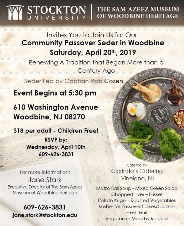 Community Passover Seder April 20, 2019
