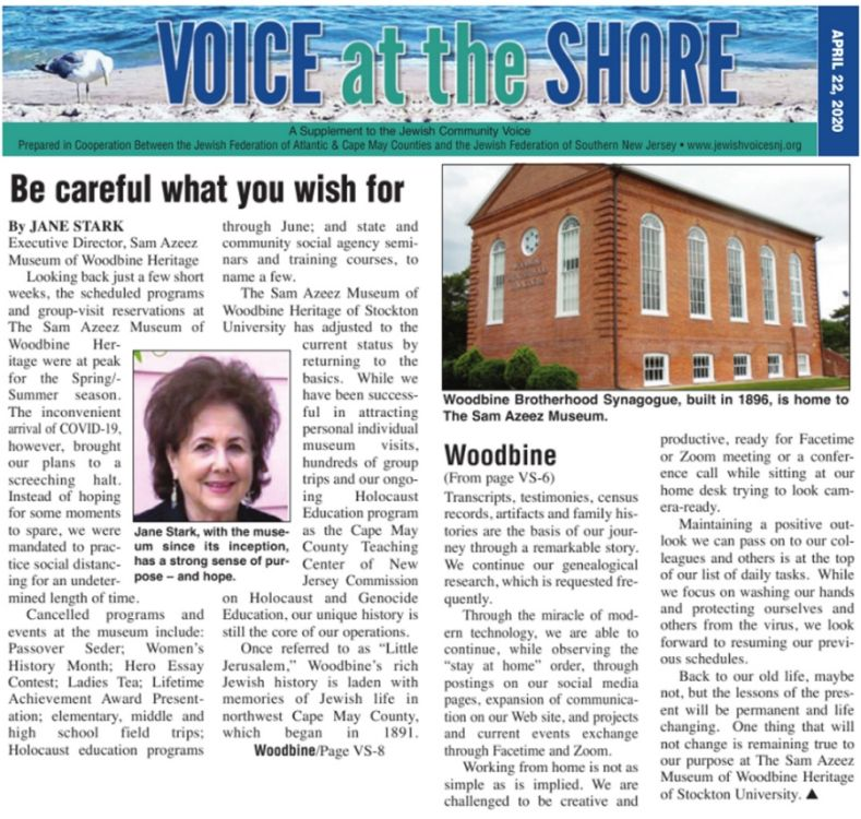 2020 Voice At The Shore COVID Article