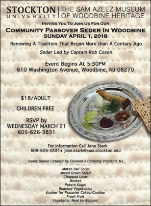 Community Passover Seder April 01, 2018