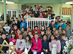 Mullica Township Middle School Students hear Survivor Fred Spiegel at the Museum