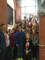 March 3, 2015 Auschwitz Holocaust Survivor Rosalie Simon speaking to Dennis Township Middle School 7th Grade