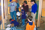 Woodbine Cub Scouts earning their community discovery badges at The Sam Azeez Museum of Woodbine Heritage