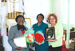 Eartha Dixson, Sheroe Award Winner 2009; Evelyn Coleman, The Sam Azeez Museum of Woodbine Heritage Lifetime Achievement Winner 2009, and Jane Stark, Executive Director of the Museum