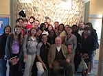 Holocaust Child Survivor Fred Spiegel shared his experiences with 12th grade students from Middle Township High School