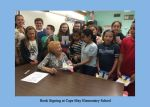 Book signing at Cape May Elementary School