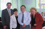 Jane Stark, Yehuda Bauer, Gail Rosenthal & Michael Azeez during Character Education Day