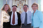 Anne Azeez, Yehuda Bauer, Rabbi Krauss & Kathy Azeez during Character Education Day
