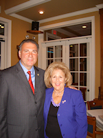 NJ Senator Nicholas Asselta and The Sam Azeez Museum of Woodbine Heritage Executive Director Jane Stark