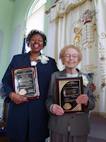 L-Julia Hankerson Sheroe Award Recipient and Mrs. Marjorie Rosenfeld Lifetime Achievement Recipient