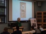 Betty Grebenschikoff speaking to Alder Ave Middle School 8th Grade Studenst